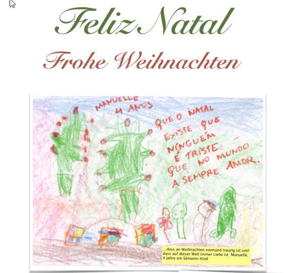 Weihnachtsgrüße Freunde.Feliz Natal Frohe Weihnachten Aus Brasilien Schule Alsterredder