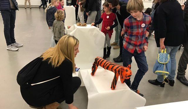 Kunstpioniere – Blitzausstellung  der Klasse 3a im Kunstverein am 09.02.2018