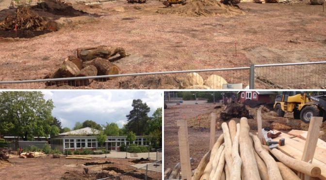 Einen Einblick in die Umgestaltung des Schulhofes